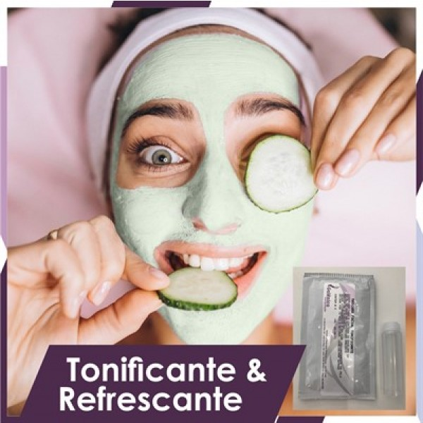 Máscara facial peel-off tonificante e refrescante